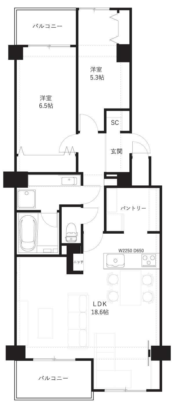 コープ野村武蔵弐期棟6階
